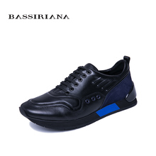 BASSIRIANA 2019 new spring and autumn mens casual sports shoes Lace-upnatural leather comfortable breathable