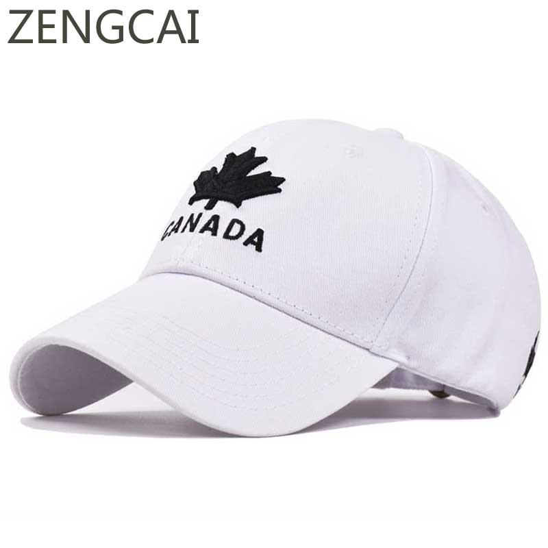 CANADA Maple Leaf Embroidery Dad Hat Cotton Trucker Baseball Cap Summer Snapback Hip Hop Hats For Women Men Summer Sun Visor Cap branded hip hop snapback hats summer flat baseball cap for women men embroidered korean caps casual visor cotton hat adjustable