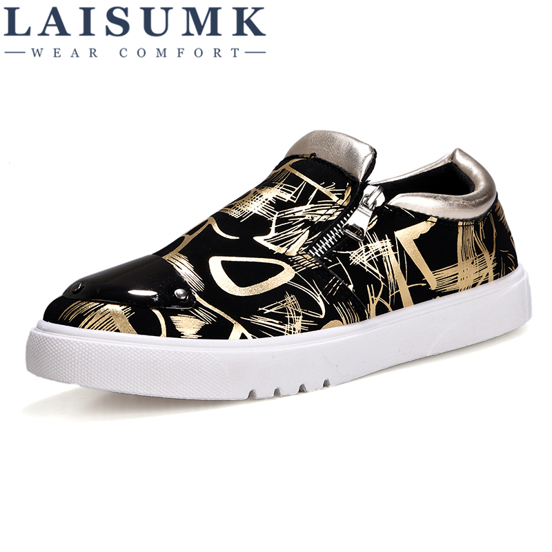 Beautiful Laisumk Mens Casual Shoes Breathable Spring Autumn Set Feet Males Comfortable Fashion Lightweight Flats Personality Large Size Men's Casual Shoes