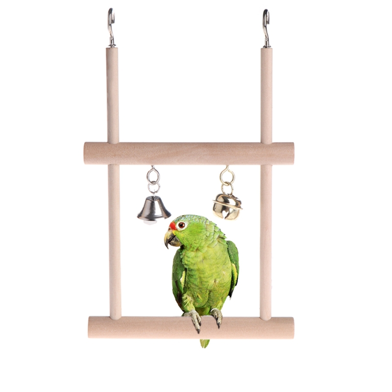 Pet Products New Arrival Parrot Birds Toys Plaything Toy Large Wooden Rope Cave Aviary Ladder Swings Colorful Pet Bird Accessories With Bells Consumers First