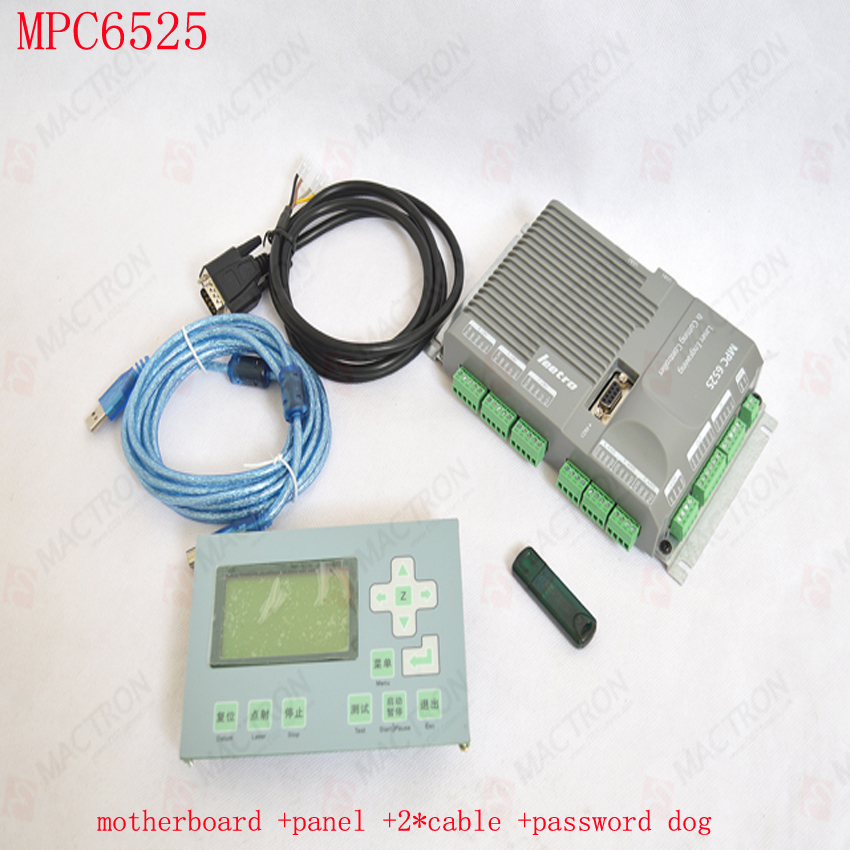 Free by DHL Leetro Co2 Laser Controller For Laser Machines MPC6525 (laser controller mainboard+ panel+ dongle + cable*2)  цены