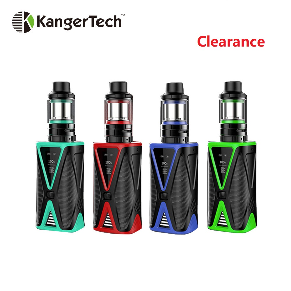 Clearance Original Kanger Spider Vape Kit 4200mAh Battery E-cig Kit with 2ml FIVE 6 Mini Tank Max 200W Output E-cigarette KitClearance Original Kanger Spider Vape Kit 4200mAh Battery E-cig Kit with 2ml FIVE 6 Mini Tank Max 200W Output E-cigarette Kit