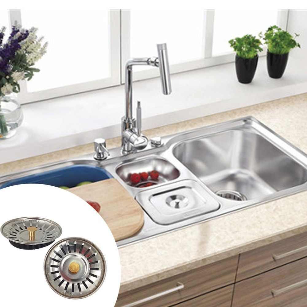 8 centímetros Filtro Da Piscina Em Aço Inox Pia Da Cozinha Escorredor de Água Filtro Dreno de Assoalho Drainning Apanhador de Cabelo Ferramentas de Limpeza Do Banheiro