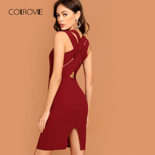 06e03b7e0 Compare Prices on Burgundy Slit Dress- Online Shopping Buy Low Price ...