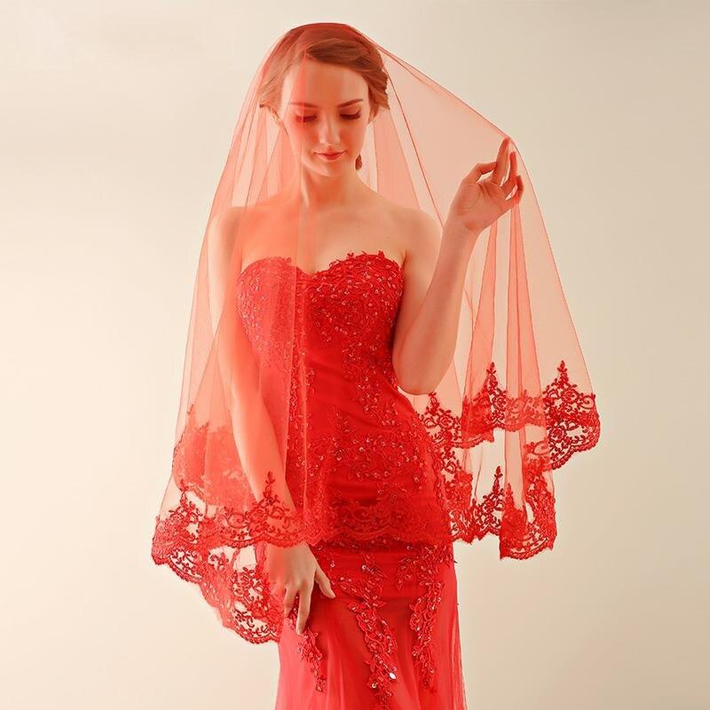 Красное свадебное платье фото с красной фатой