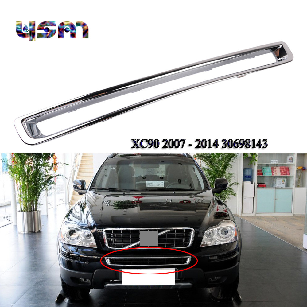 New Chrome Exterior Front Plated Bumper Frame Grille For