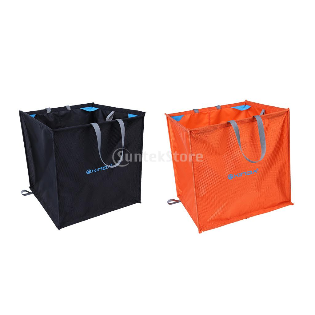 цена на 2 Pieces Tree Climber Arborist Foldable Climbing Rope Throw Line Storage & Deploy Cube Bag 40*40*40cm Orange & Black