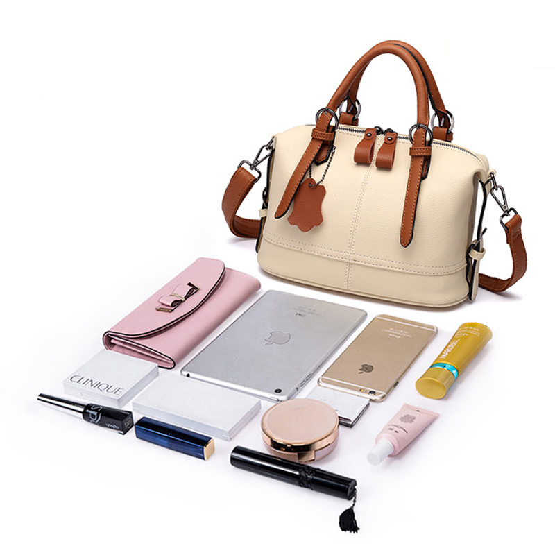 f43096f18cb8 WHX Beige White Leather Handbags Women Tote Bags Crossbody Bag Latest  Design Fashion Casual Female Shoulder Messenger Bag New Pu-in Top-Handle  Bags from ...