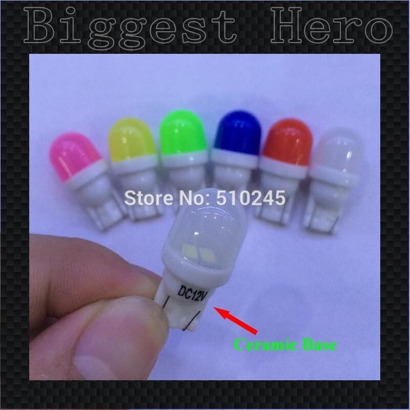 500X 12V ceramic wholesale 2smd W5W 194 T10 2 LEDS SMD 5630 lens Width Lamp car wedge light bulb signal lighting Free shipping