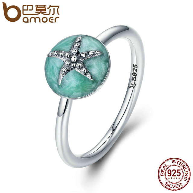 BAMOER Authentic 100 925 Sterling Silver Fantasy Starfish Wedding