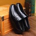 De alta Qualidade Da Marca Genuína Sapatos De Couro Homens Flats Shoes Black Brown Oxfords Sapatos de Negócios Formais Sapatos Masculinos Zapatos Hombre 2A