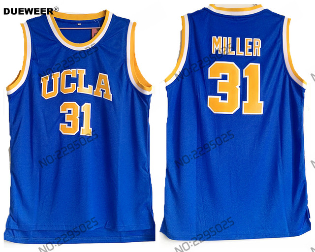 half off b5f65 33d9d DUEWEER Mens Throwback Basketball Jerseys #31 Reggie Miller Blue UCLA  College Retro Stitched Jersey Cheap Basketball Shirts-in Basketball Jerseys  from ...