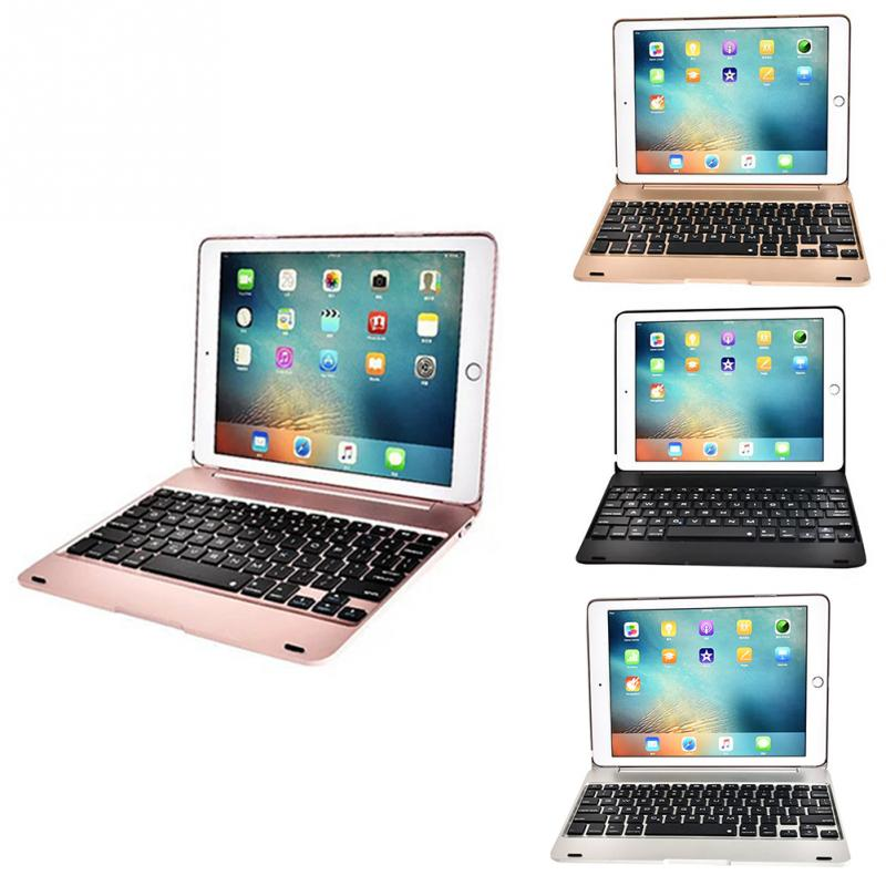 For IPad Pro 9.7 Air 2 Backlit Clamshell-type Wireless Keyboard Case ABS Stand Smart Cover with Backlits Bluetooth Keyboard Foli