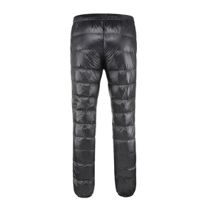 Image 5 - Winter Ultralight Duck Down Outwear Pants Unisex Super light Windproof Plus Size warm trousers Loose ski Hiking down pants