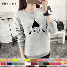 Manufacturers selling thick warm sweater T-shirt cute kitty ladies eighteen colors M-3XL five code number can be selected