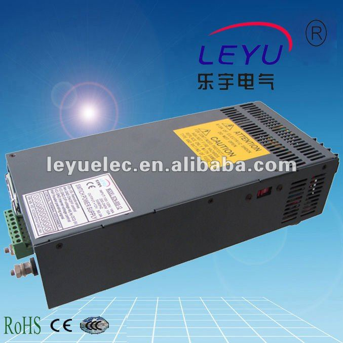 LEYU SCN 600 12V 15V 24V 48V 600W PFC function single output power supply with parallel function