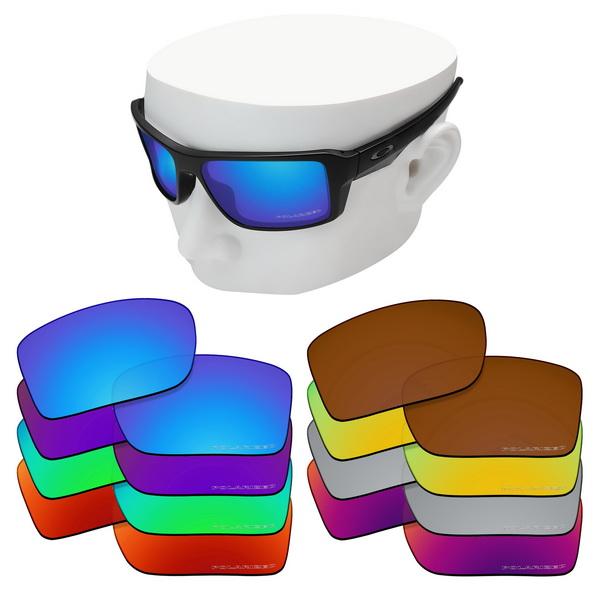 OOWLIT Anti-Scratch Replacement Lenses For-Oakley Double Edge Etched Polarized Sunglasses