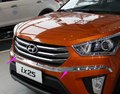 Chrome Front Grille Around Trim Racing Grills Trim For 2015 Hyundai ix25