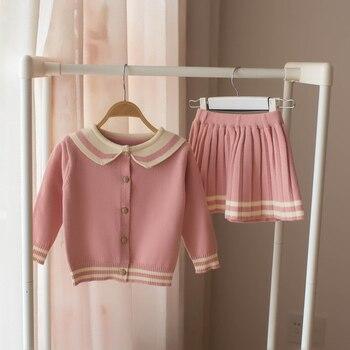 648317a64 Bebé Niñas Ropa conjunto suéter prendas de punto para niñas niños de algodón  2 piezas de ...