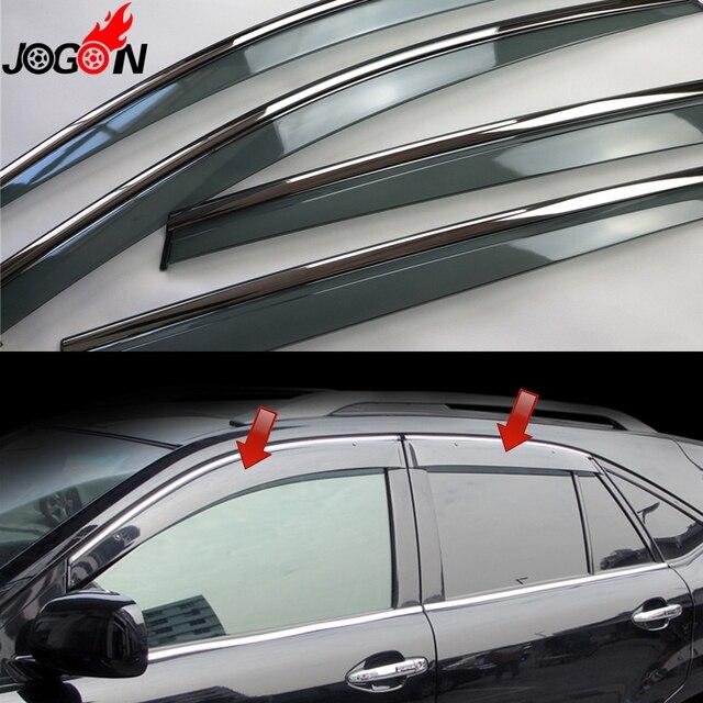 For Lexus RX XU30 RX300 RX350 RX400h 2004 - 2009 Toyota Harrier Window Sun  Rain Visors Vent Shade Deflector Guard Weather Shield 05fbef97c87