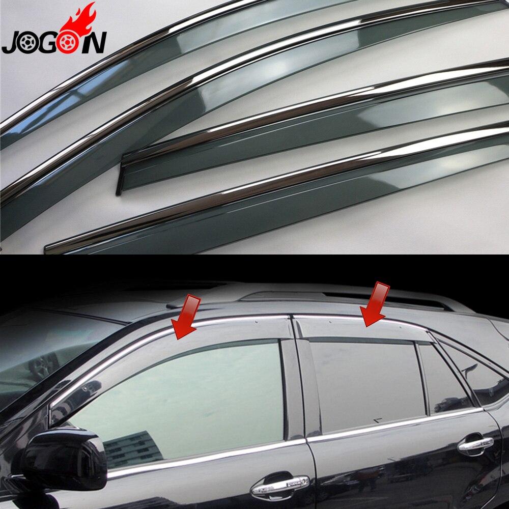 4pcs Out-Channel Visor Rain Guards For Lexus GX470 2003 2004-2009 4 Door Sedan