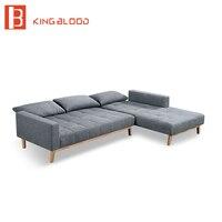 Аксессуары L Форма Складной мягкий диван двухъярусная кровать дизайн с ножки из нержавеющей стали мебель