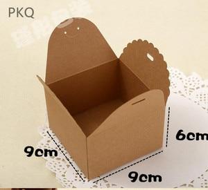 Image 5 - 50 stuks Rood/Zwart/Bruin Papier Doos Bruiloft Gunsten Snoep Doos Kleine Gift Box voor Sieraden DIY cookie/Muffin Verpakking 9x9x6 cm