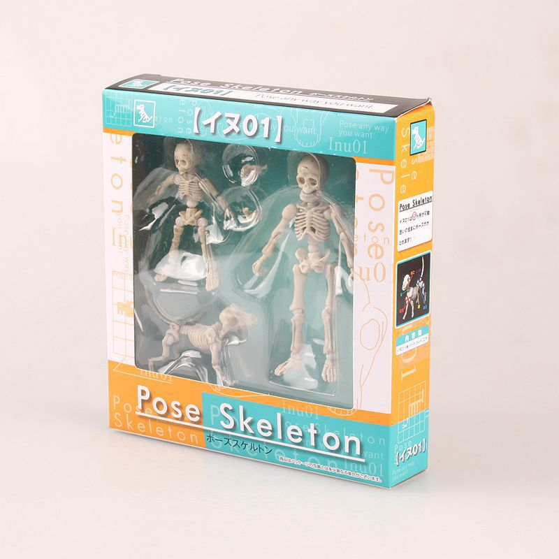 3pcs/set 3-8cm <font><b>Pose</b></font> <font><b>Skeleton</b></font> Child Dog Joints moveable Cartoon Anime Action Figure PVC toys Collection figures for friends gifts image