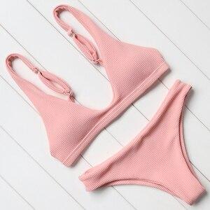 Сплошной комплект бикини купальник женский сексуальный пуш-ап купальный костюм Пляжная одежда бикини 2018 Летний пляж