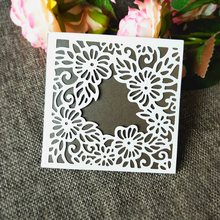 Grid Background Square Frame Metal Cutting Dies Stencils for DIY Scrapbooking DIY Paper Cards Photo Album Decorative Embossing(China)
