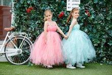 2 Colors Summer Girl dress Kids dresses for girls Pink Blue Gauze Mesh sleeveless Tutu princess