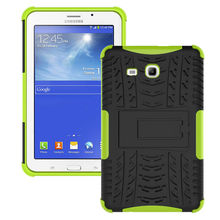 For Samsung Galaxy Tab 4 Lite T116 Case Hybrid TPU+PC Hard Shockproof 2 In 1 With Stand Function Tablet Cover Cases 8 Color