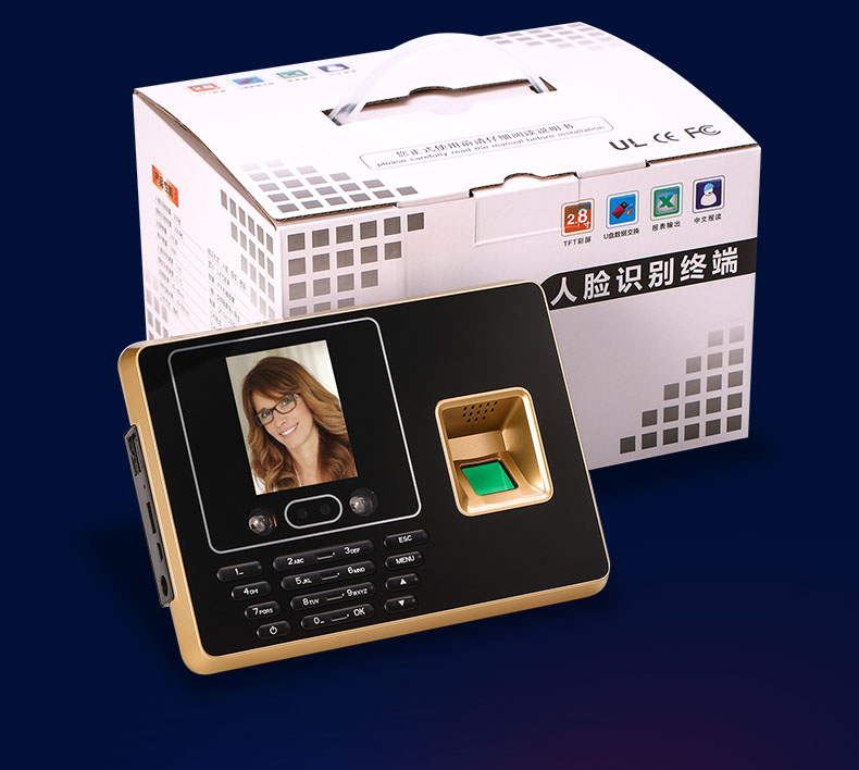 FINGERPRINT TIME ATTENDANCE FACE RECOGNITION TIME RECORDER MANAGEMENT 500 FACE USERS