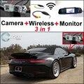 3 in1 Специальные Wi-Fi Камера + Беспроводной Приемник + Зеркало Монитор парковочная Система Для Porsche 996 997 Carrera 991 911 Turbo GT2 GT3