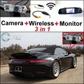 3 in1 Special Wifi Camera + Wireless Receiver + Mirror Monitor Parking System For Porsche 996 997 991 Carrera 911 Turbo GT2 GT3