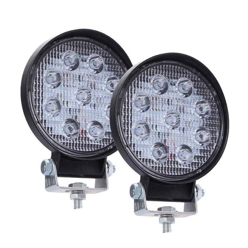 "2PCS 4/""INCH 90W LED Round Work Light Spot Flood Driving Head Light Fog Lamp SUV"
