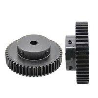 1PCS Convex Gear Pinion 1.5Module 50/60Teeth 8 10 12 15 25mm Hole Diameter Black 1.5M Spur Gear For Machine