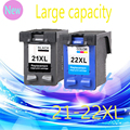 Genuine 2 Pcs Ink Cartridge for HP 21 22 XL For HP cartridges 21 and 22 for HP Deskjet 3915 D1530 D1320 F2100 F2280 F4100 F4180
