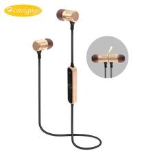 Honsigogo Ímã de Metal fone de Ouvido Bluetooth Sem Fio Fone de ouvido Esporte fone de ouvido Estéreo Fones de Ouvido Música HD com Microfone para Telefones celulares