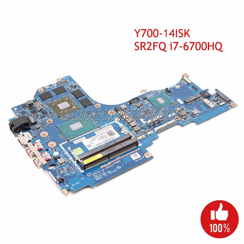 """FRU 5B20M55518 AIPY6 LA-C951P Laptop Motherboard For lenovo ideapad Y700-14ISK 14"""" SR2FQ i7-6700HQ R9 M375 4G GDDR3 GMA HD530"""