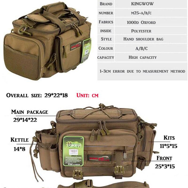 Sacs de pêche sac de matériel de pêche 29x22x18 cm multi-usages étanche avec deux boîte de leurre de pêche boîte d'attirail Double face - 5