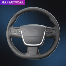Car Braid On The Steering Wheel Cover for Peugeot 508 2011-2008 508 SW 2011-2008 Interior Auto Steering Wheel Cover Car-Styling автомагнитола intro chr 2358 peugeot 508 2011 ie