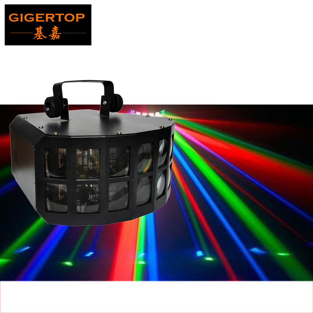 TIPTOP TP-E16 Led Butterfly Beam Light 2x10W RGBW 4IN1 Stage Beam Light DMX512/Auto LCD Display Moonflower Led Scan Beam 12 Pack freeshipping tiptop 200w led profile spot rgbw 4in1 stage wash effect cast aluminum gobo frame spring clip safety zoom tp 007