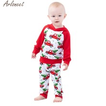 ARLONEET Infant Boys Girls Outfits Car Print baby girl clothes newborn baby girl clothes christmas infant clothing(China)