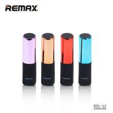 REMAX 2400 мАч Мини помада портативный внешний аккумулятор USB универсальный модный Дополнительный внешний аккумулятор зарядное устройство для Iphone 7 XiaoMi