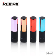 REMAX 2400Mah Mini Lipstick Portable PowerBank USB Universal fashion Extra Power Bank Battery Charger for Iphone 7 XiaoMi Supply
