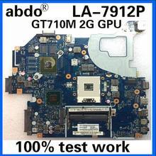 Abdo Q5WV1 LA-7912P материнская плата для ноутбука ACER V3-571 E1-571 V3-531 E1-531 ноутбук материнская плата PGA989 GT710M DDR3 ТЕСТ ОК