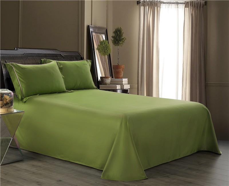 2018 High Quality American Pima Cotton Bed Sheets Solid Color Comforter Bedding Set 100s Flat Sheet Bedspread Simple Linen