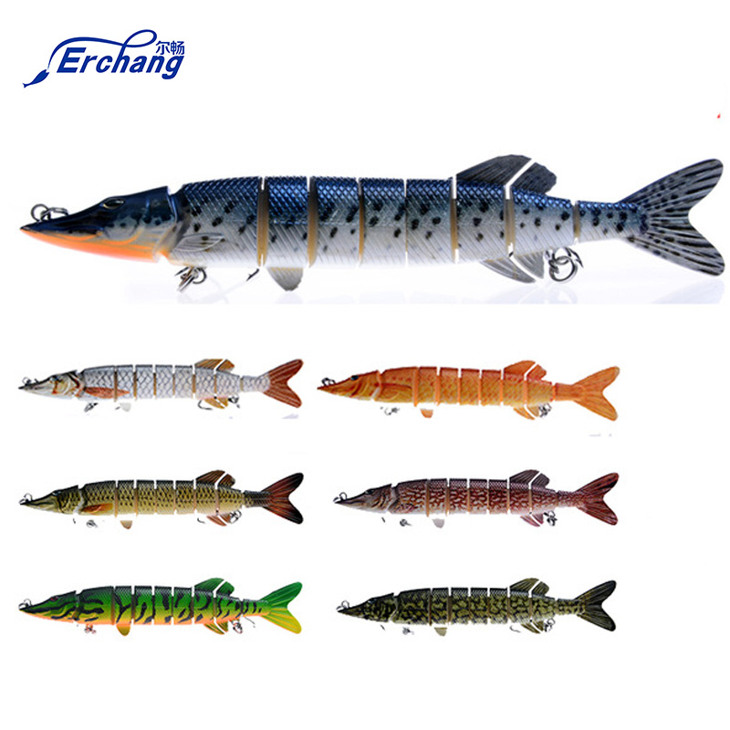20cm 80g 8-segement Isca Artificial Pike Lure Muskie Fishing Lures Swimbait Crankbait Hard Bait Fishing Accessory walk fish 5pcs lot isca artificial fishing lure 13cm 21g crankbait hard fishing bait swimbait pesca lures pike fishing tackle