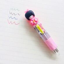 Kawaii 4 اللون كيمونو اليابانية فتاة الصحافة الكرة قلم الكتابة طالب القرطاسية مدرسة مكتب التموين عشوائي